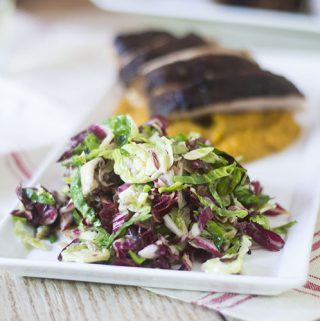 Brussels Sprouts Radicchio Slaw