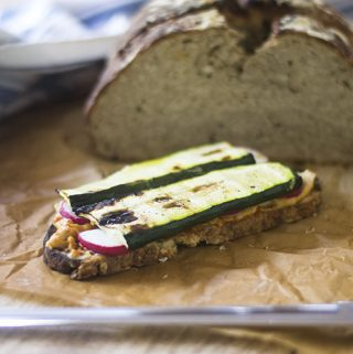 Grilled Zucchini Hummus Gluten Free Sandwich