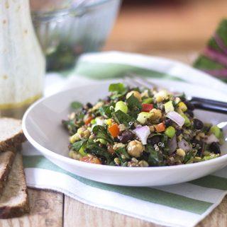 Hearty Vegan Edamame Quinoa Salad