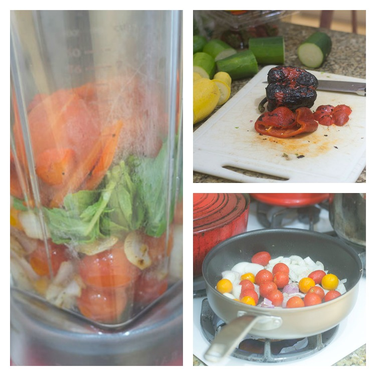 Building the Roasted Red Pepper Sauce