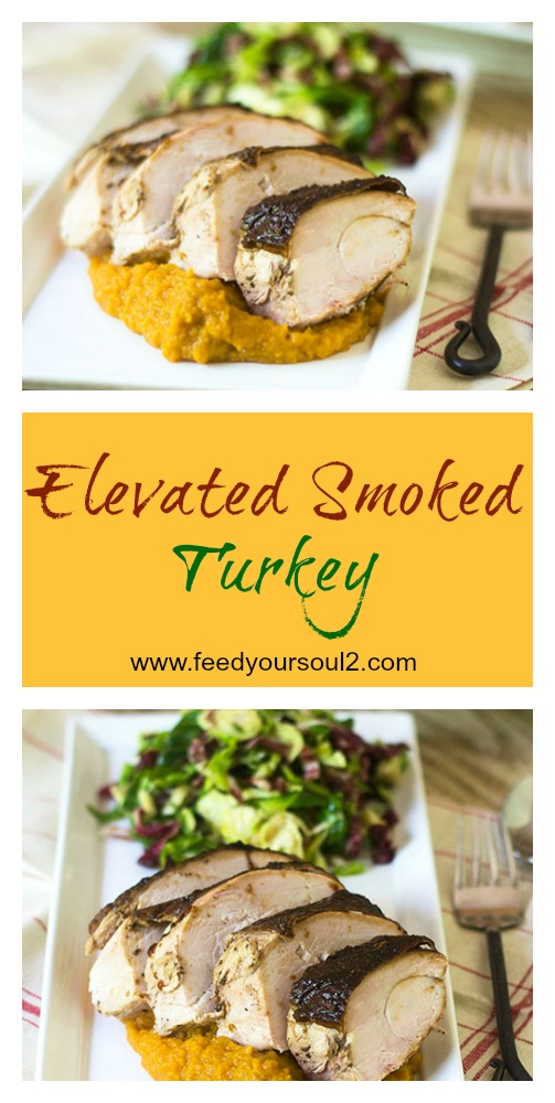 Elevated Smoked Turkey #smoker #glutenfree #turkey #Thanksgiving | feedyoursoul2.com