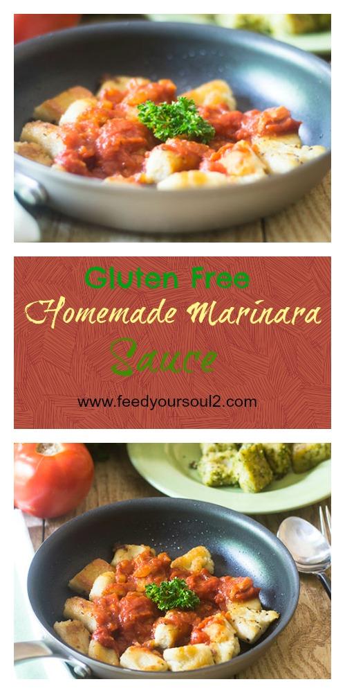 Gluten Free Homemade Marinara Sauce #Italianfood #glutenfree #sauce #tomatoes | feedyoursoul2.com