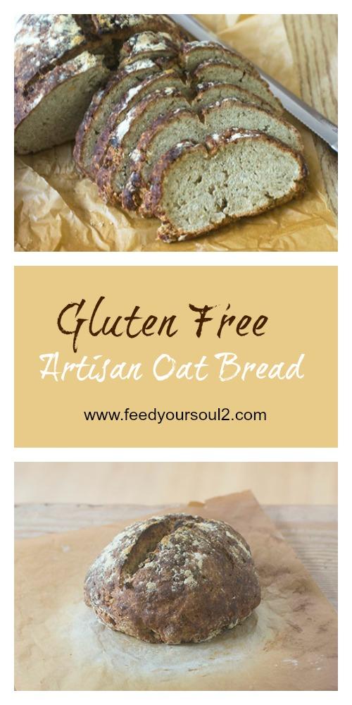 Gluten Free Artisan Oat Bread #bread #glutenfree #oatflour | feedyoursoul2.com