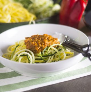 Roasted Red Pepper Zoodles