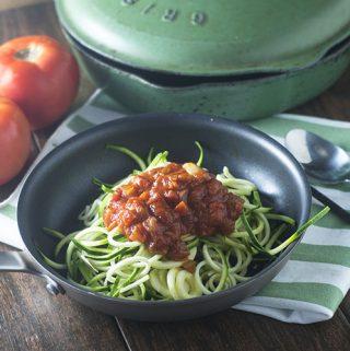 Zucchini Zoodles Homemade Marinara