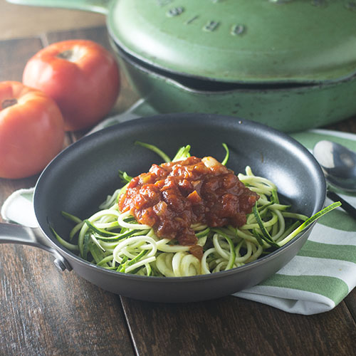 Zucchini Zoodles Homemade Marinara from Feed Your Soul Too
