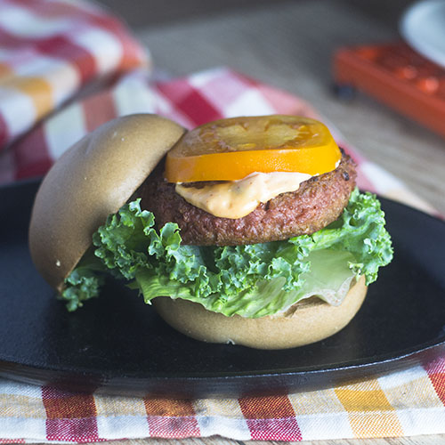 Beyond Meat Veggie Burger from Feed Your Soul Too