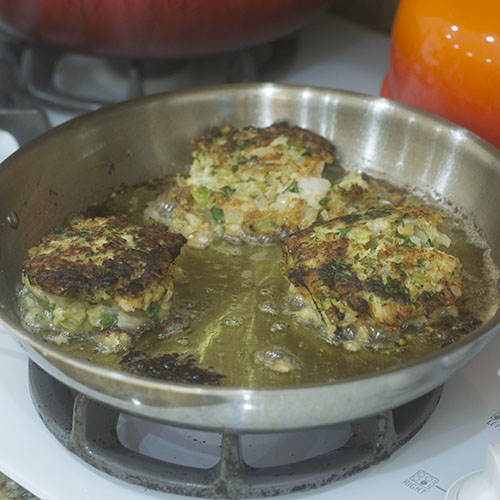 Cod Cakes Flipped