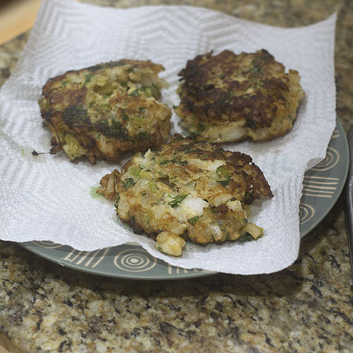 Cod Cakes Resting
