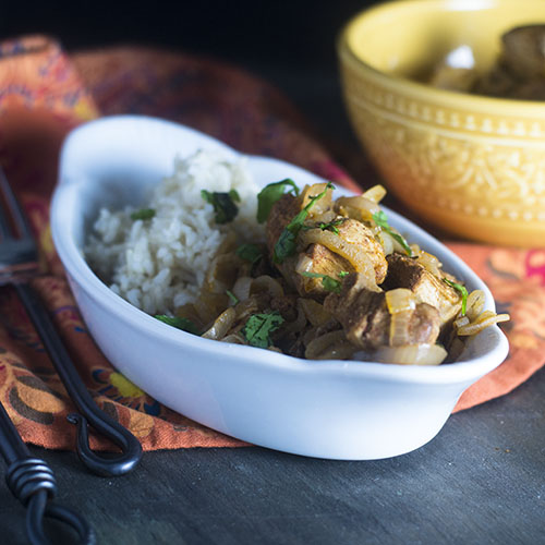 Easy Chicken Korma #chicken #glutenfree #Indianfood | feedyoursoul2.com