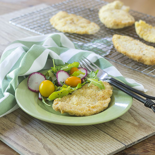 Gluten Free Breaded Chicken Milanese from Feed Your Soul Too