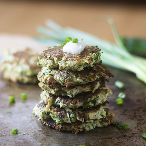Gluten Free Zucchini Fritters #veggie #glutenfree #fritter | feedyoursoul2.com