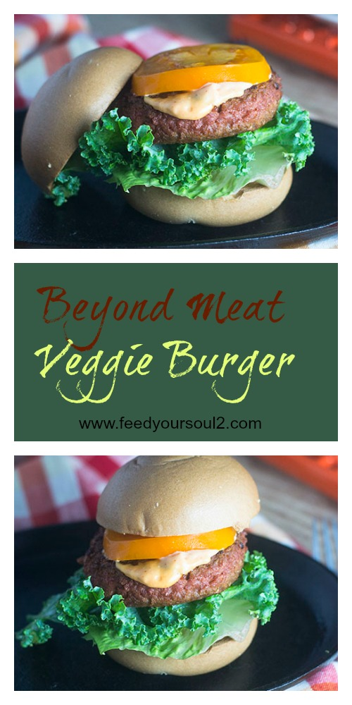 Beyond Meat Veggie Burger #veggie #glutenfree #burger | feedyoursoul2.com