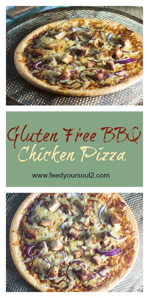 Gluten Free BBQ Chicken Pizza #Italianrecipes #glutenfree #chicken #BBQ   feedyoursoul2.com