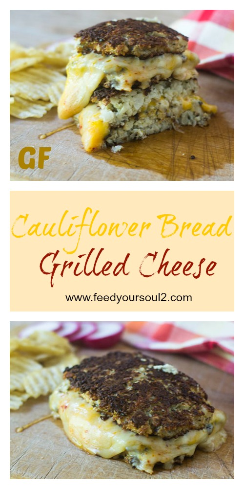Cauliflower Bread Grilled Cheese #sandwich #glutenfree #cheese #cauliflower| feedyoursoul2.com