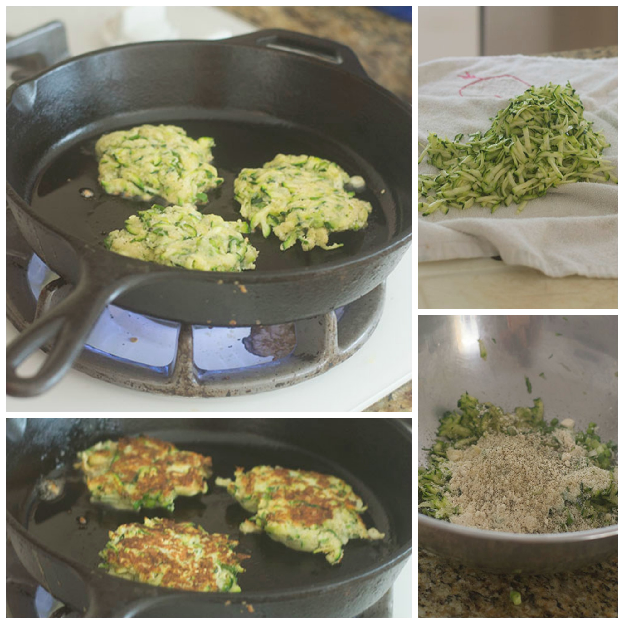 Putting the Zucchini Fritters Together