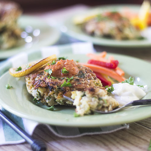 Simple Gluten Free Cod Cakes from Feed Your Soul Too