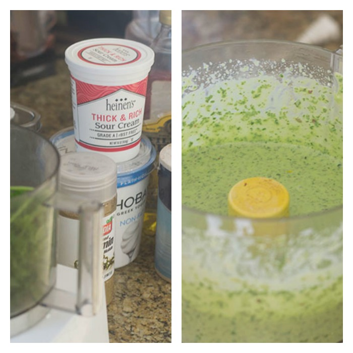 Creating the Cilantro Sauce