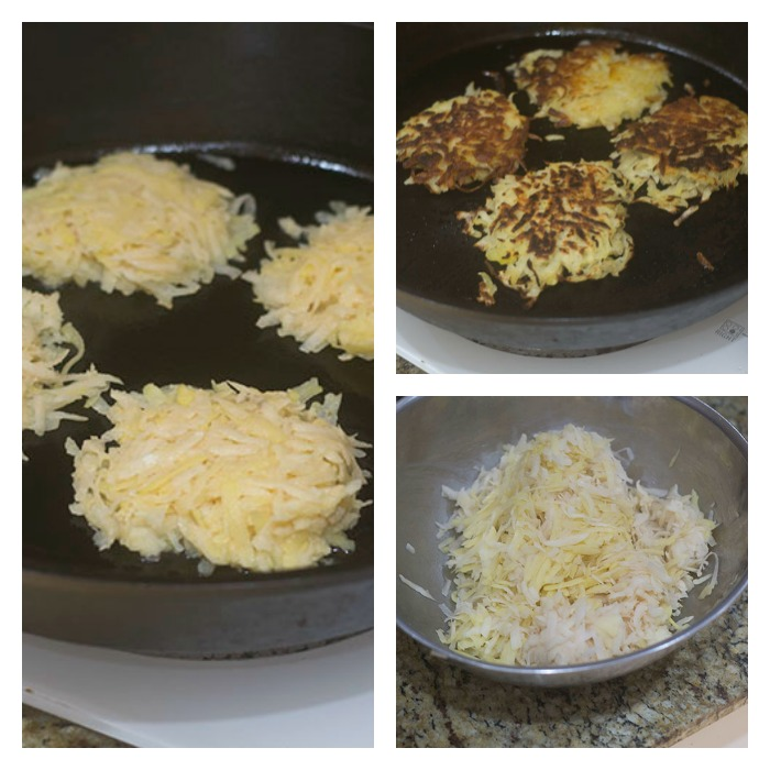 Creating and Cooking the Potato Latkes