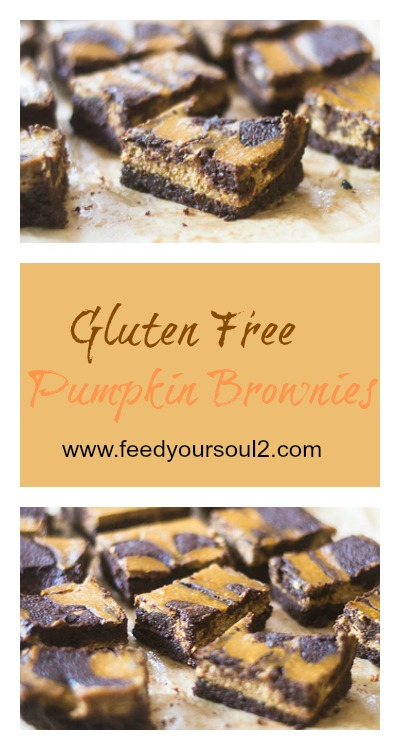 Gluten Free Pumpkin Brownies #chocolate #glutenfree #brownies #pumpkin | feedyoursoul2.com
