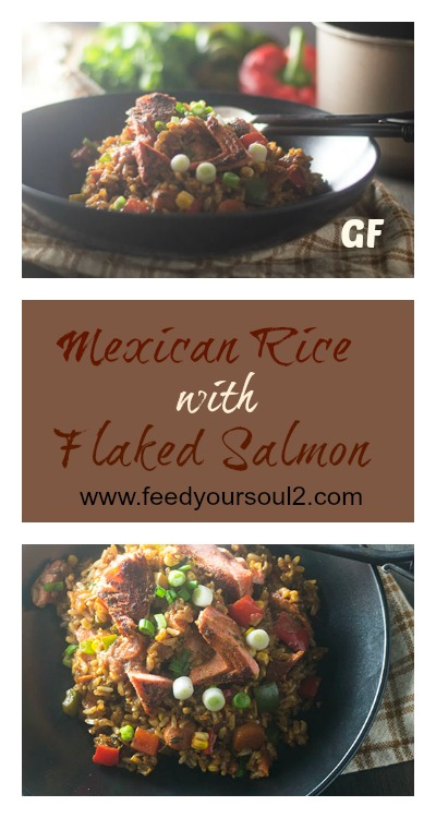 Mexican Rice with Flaked Salmon #rice #glutenfree #Mexcianfood #Seafood | feedyoursoul2.com