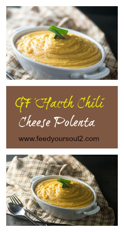 GF Hatch Chili Cheese Polenta #Polenta #glutenfree #Italianfood #Cheese | feedyoursoul2.com
