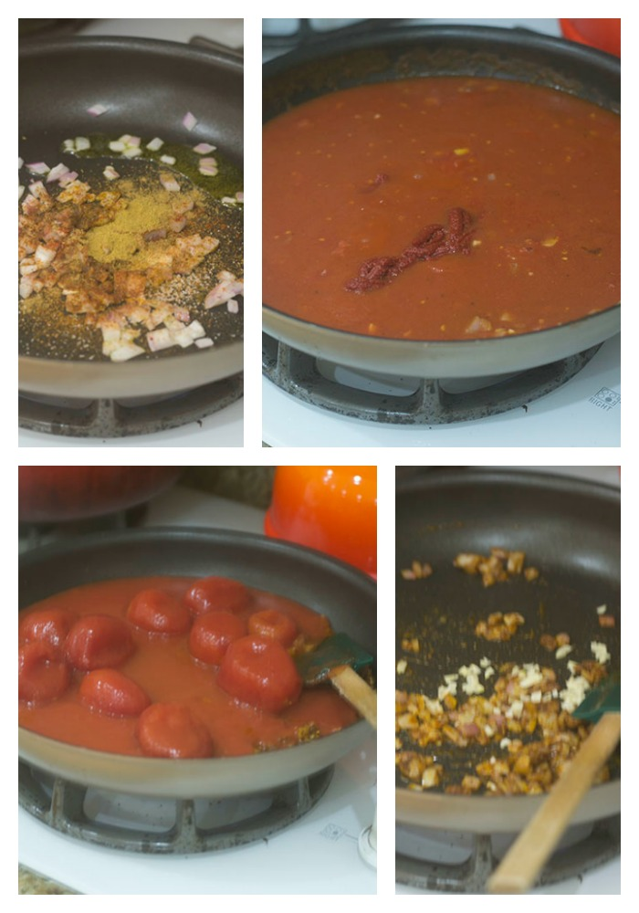 Developing the Flavors for the Tomato Sauce