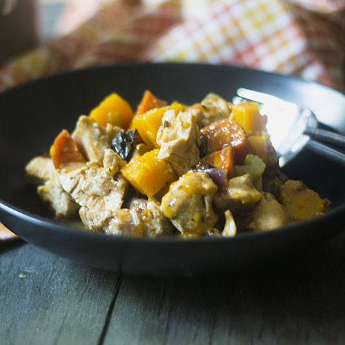 GF Chicken Squash Stew #chicken #glutenfree #stew #squash | feedyoursoul2.com