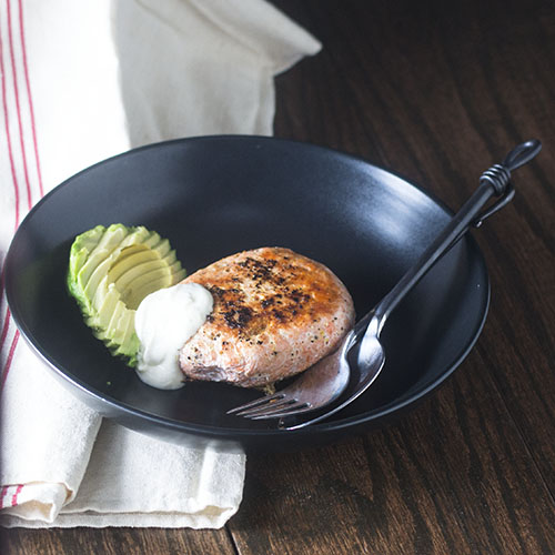 Poached Salmon Burger from Feed Your Soul Too