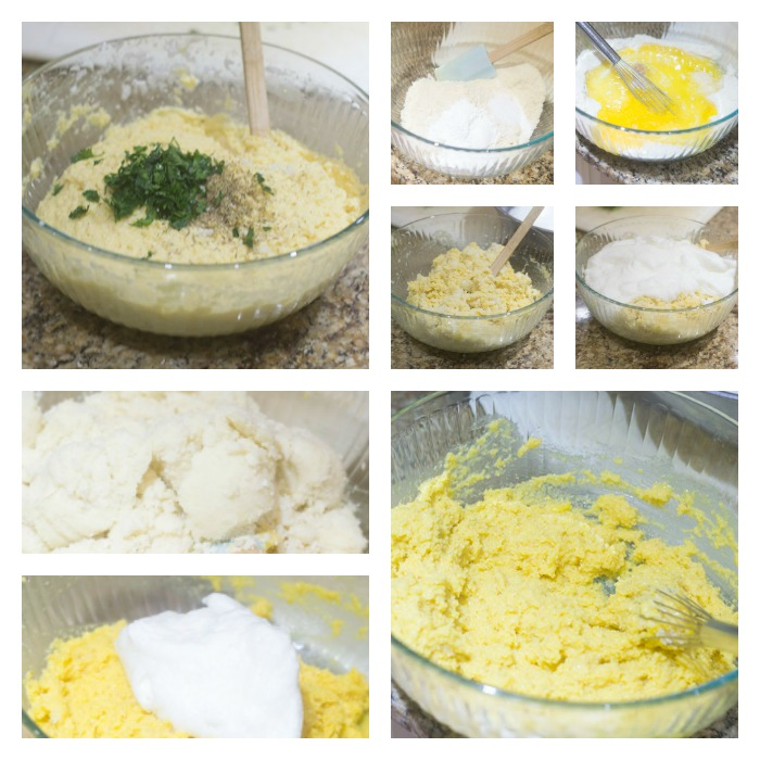 Building the Cauliflower Bread Dough