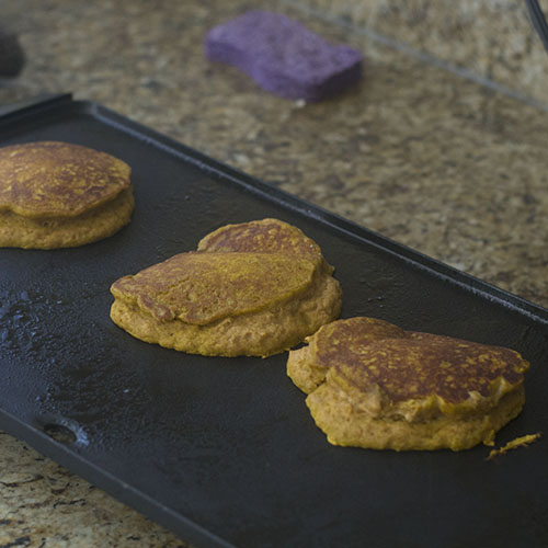 The Pancakes on the Griddle