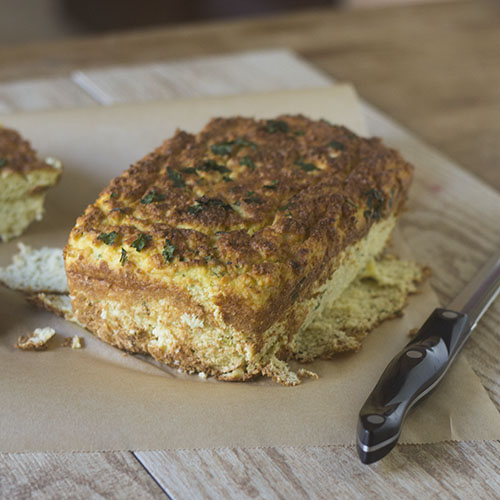 GF Cauliflower Cheese Bread from Feed Your Soul Too