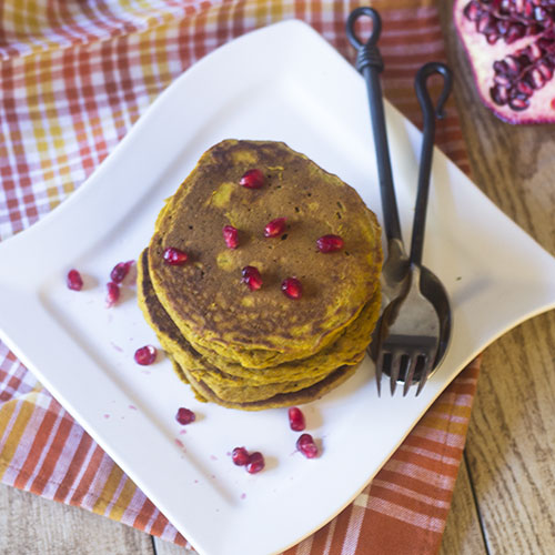 Gluten Free Pumpkin Pancakes from Feed Your Soul Too