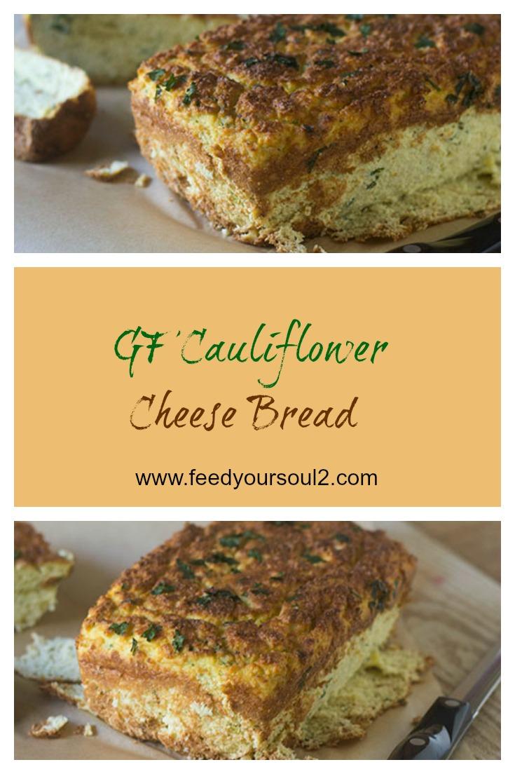 GF Cauliflower Cheese Bread #bread #glutenfree #caulifower   feedyoursoul2.com