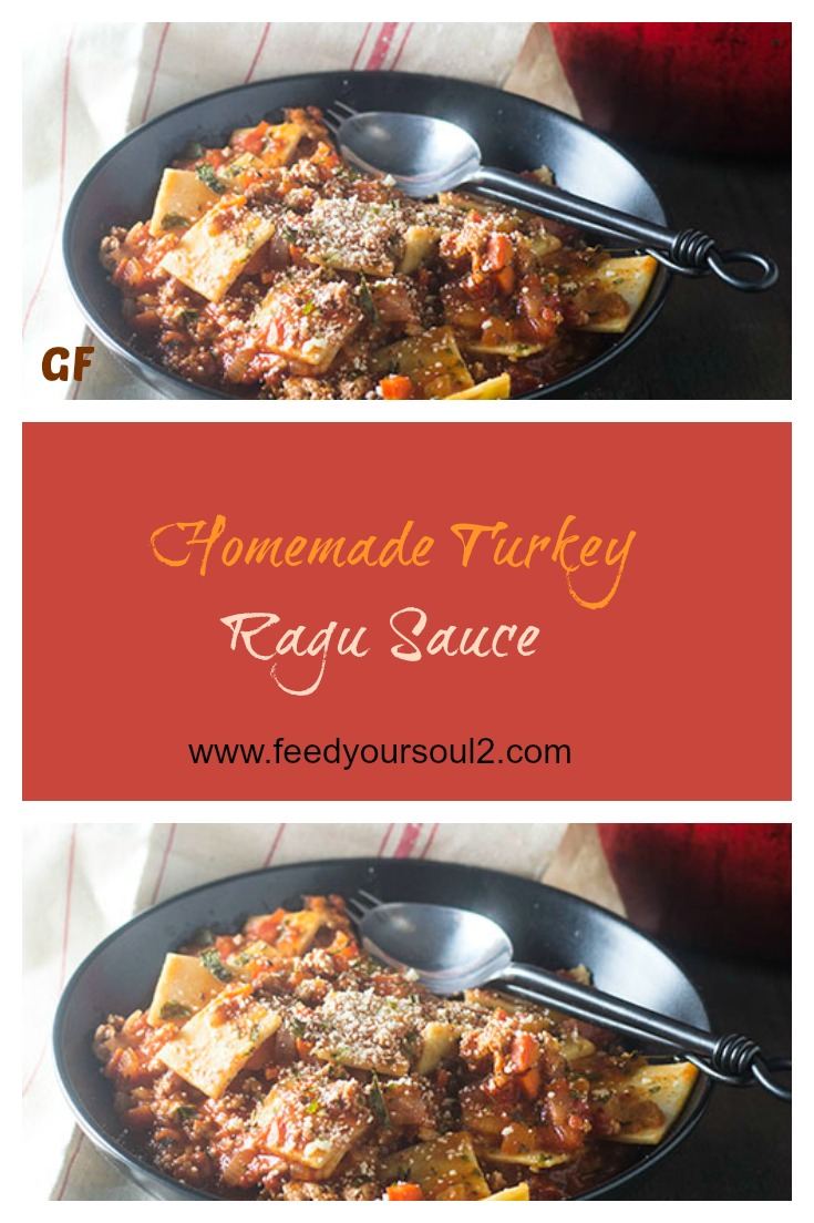 Homemade Turkey Ragu Sauce #Italianfood #glutenfree #ragu | feedyoursoul2.com