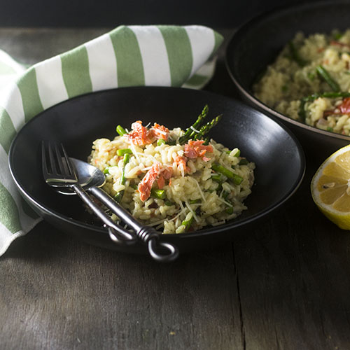 Smoked Salmon Risotto from Feed Your Soul Too