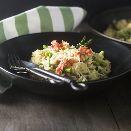 Smoked Salmon Risotto #seafood #glutenfree #risotto #Italianfood | feedyoursoul2.com