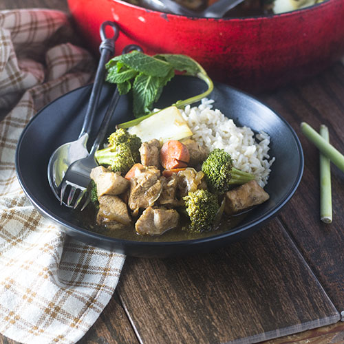 Tamarind Chicken Stew #vegan #glutenfree #stew #chickenrecipe | feedyoursoul2.com