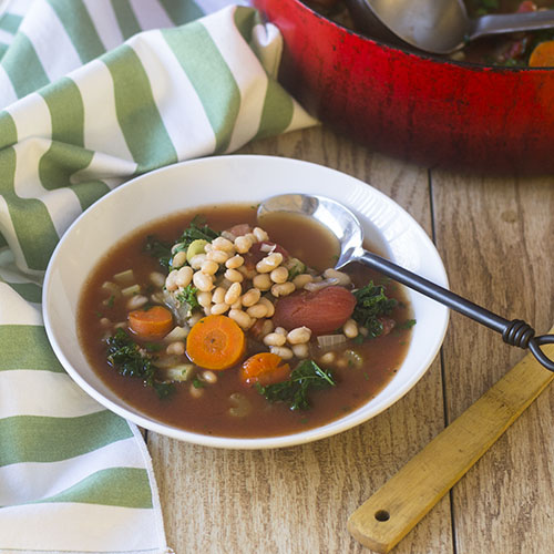 Vegan Navy Bean and Kale Soup from Feed Your Soul Too