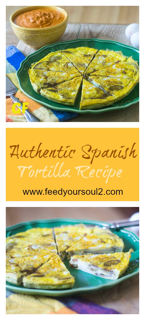 Authentic Spanish Tortilla Recipe #spanishfood #glutenfree #eggs #appetizer | feedyoursoul2.com