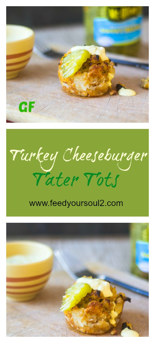 Turkey Cheeseburger Tater Tots #appetizer #glutenfree #turkey #tatertots | feedyoursoul2.com