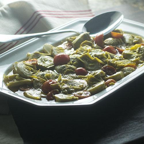 Spanish Marinated Artichoke #spanishfood #glutenfree #artichokes #vegan | feedyoursoul2.com