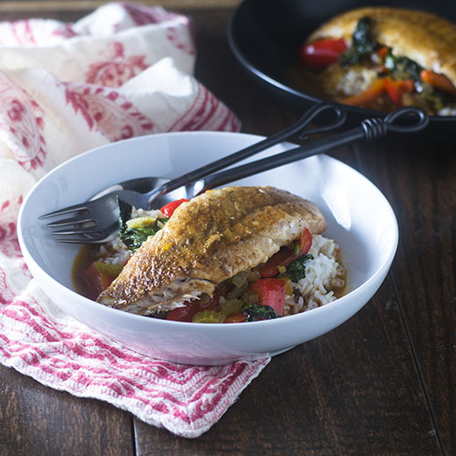 Thai Red Curry Red Snapper #seafood #glutenfree #redpeppers #thaifood | feedyoursoul2.com