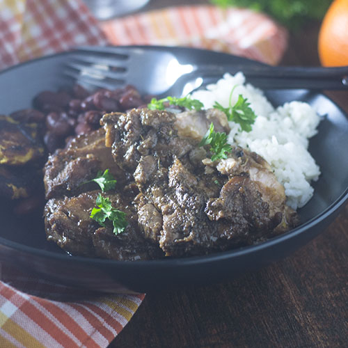 Jamaican Jerk Chicken Stew #Jerk #chicken #peppers | feedyoursoul2.com