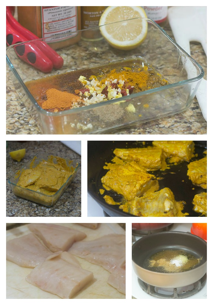 Marinating and Cooking the Yelloweye in the Curry