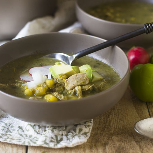 Mexican Chicken Posole #Mexican #glutenfree #soup #healthy | feedyoursoul2.com