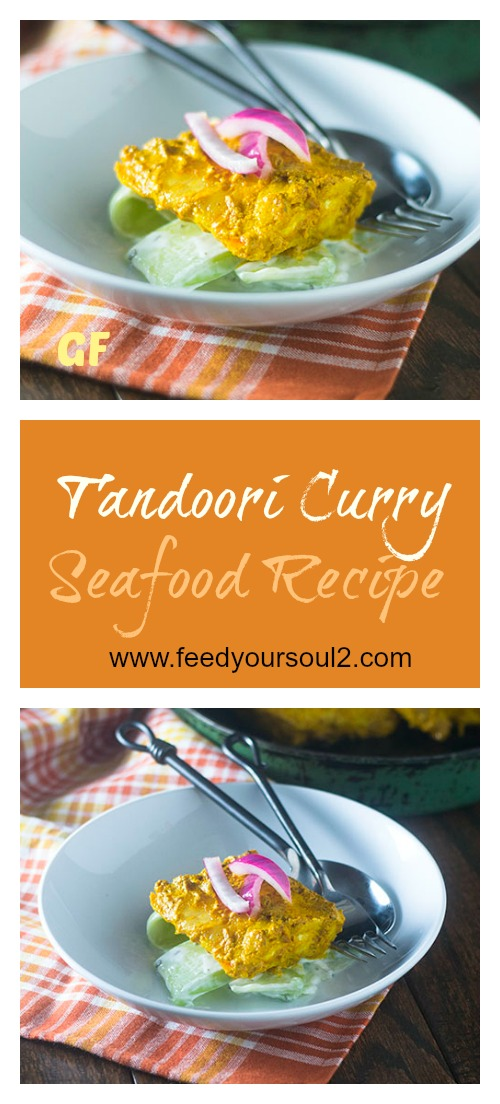 Tandoori Curry Seafood Recipe #Indian #glutenfree #seafood #curry | feedyoursoul2.com