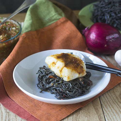 Black Bean Sofrito Alfredo Pasta from Feed Your Soul Too