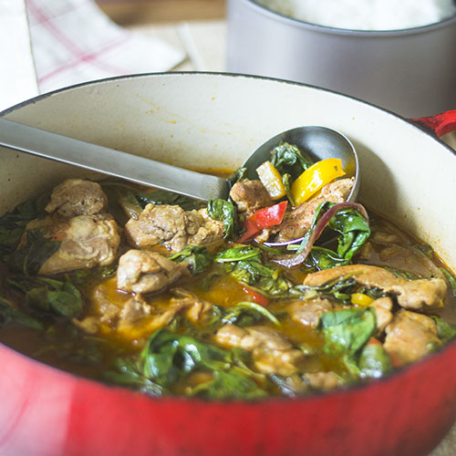 One Pot Kimchi Chicken Stew from Feed Your Soul Too