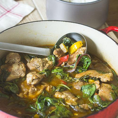 One Pot Kimchi Chicken Stew #stew #kimchi #chickenrecipe #glutenfree | feedyoursoul2.com